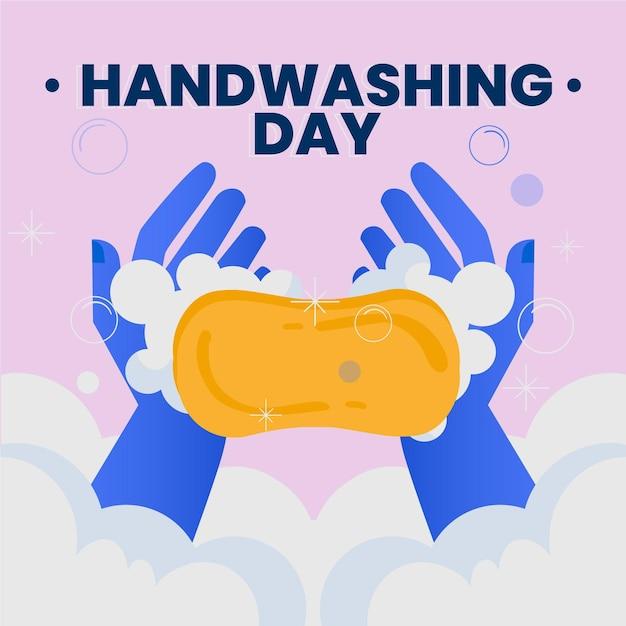 Globales handwasch-tagesereignis Kostenlosen Vektoren