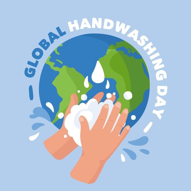 Globales handwasch-tageskonzept Premium Vektoren