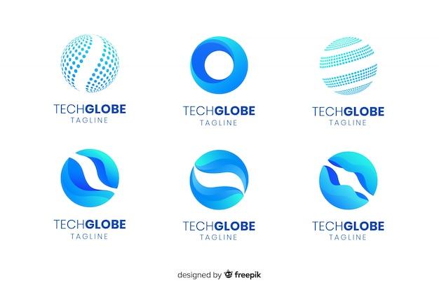 Globe-Logos Kostenlose Vektoren