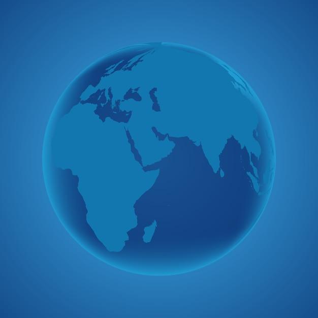 Globus erde planet Premium Vektoren