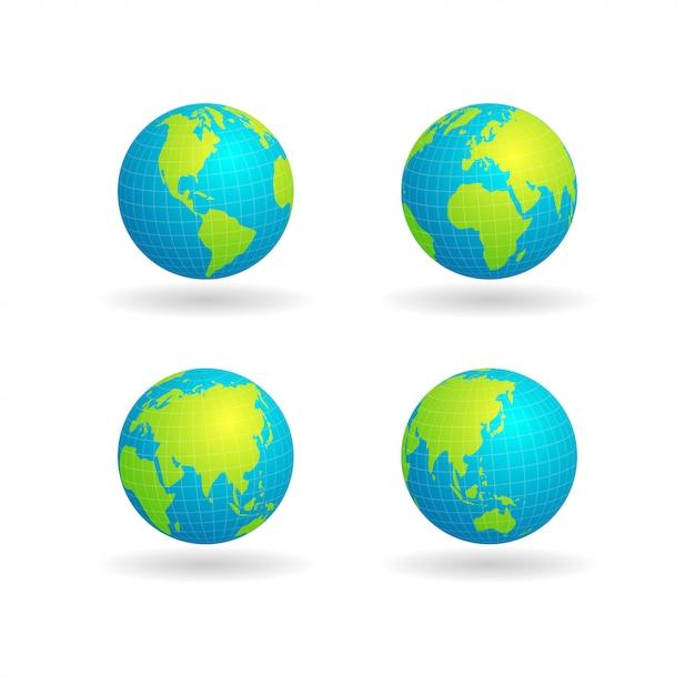 Globus mit gitter Premium Vektoren