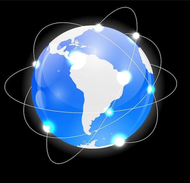 Globus-symbol Premium Vektoren