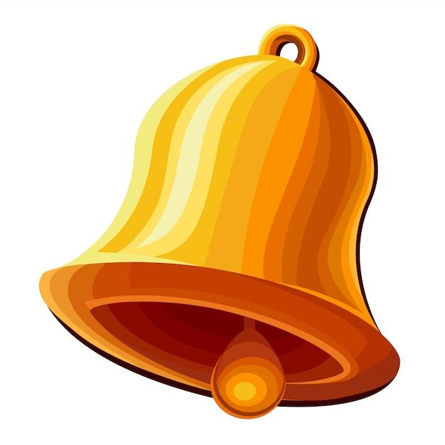 Glockensymbol isoliert Premium Vektoren