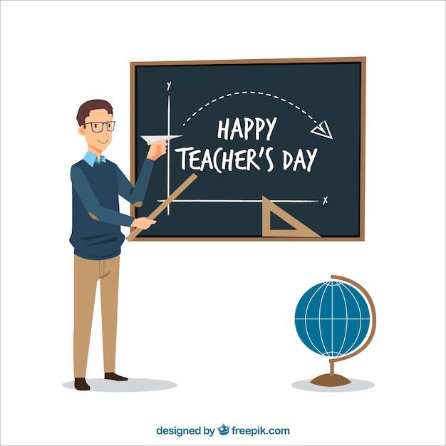 Glücklich Lehrer Unterricht math Hintergrund | Download der ...