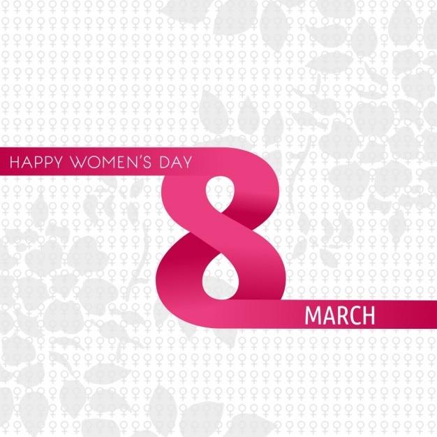 Glückliche Frauen Tag mit kreativen 8. März Kostenlose Vektoren