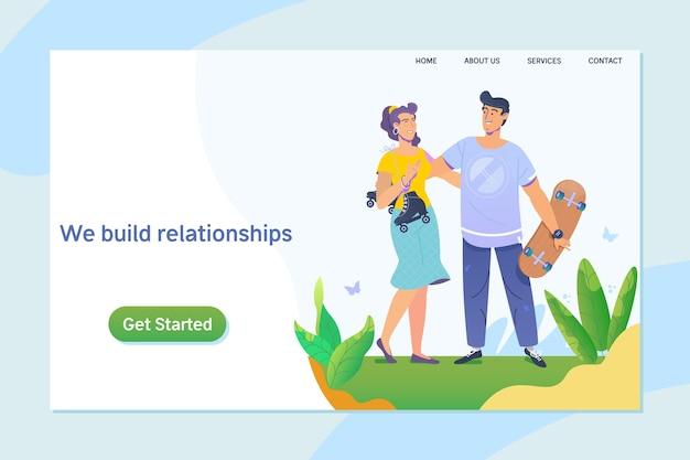 Beziehungen durch Online-Dating
