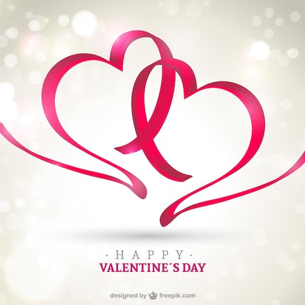 Schön Glückliche Valentinstag Karte Kostenlose Vektoren