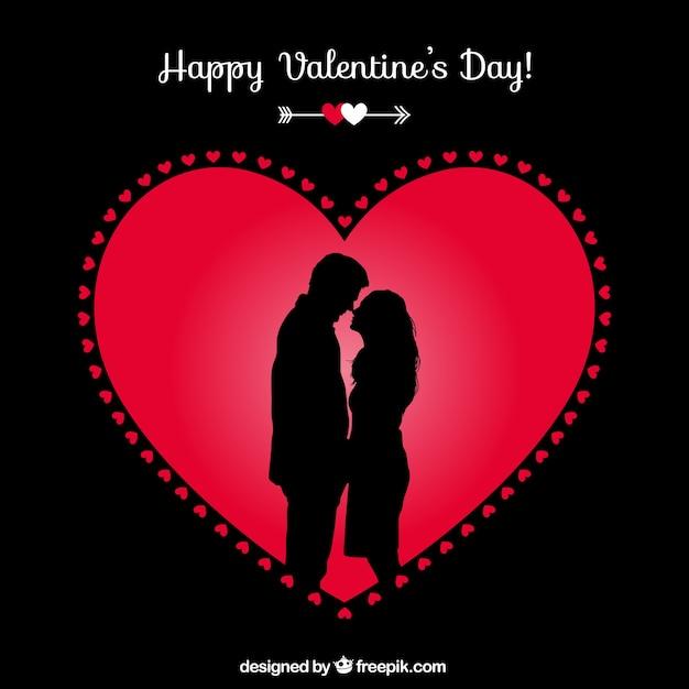 Glückliche Valentinstag Paar Karte Kostenlose Vektoren
