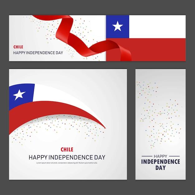 Glücklicher Chile-Unabhängigkeitstag Kostenlose Vektoren