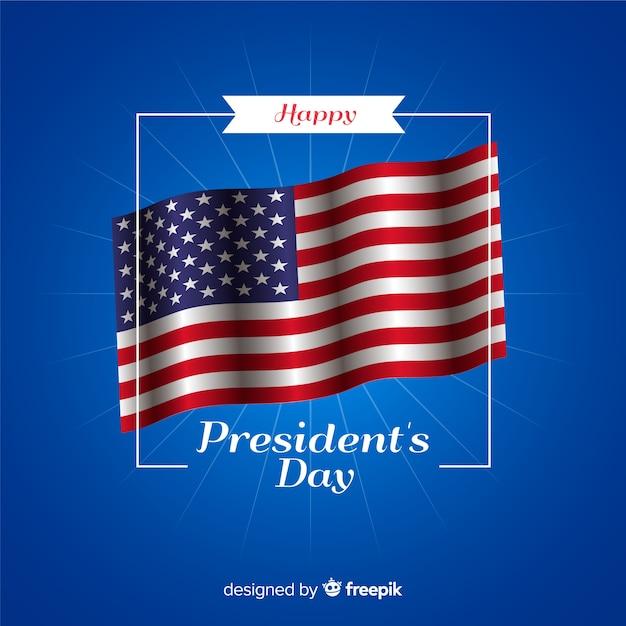 Glücklicher Tag des Präsidenten Kostenlose Vektoren