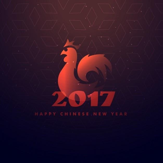 Glückliches chinesisches neues Jahr des Hahns   Download der ...
