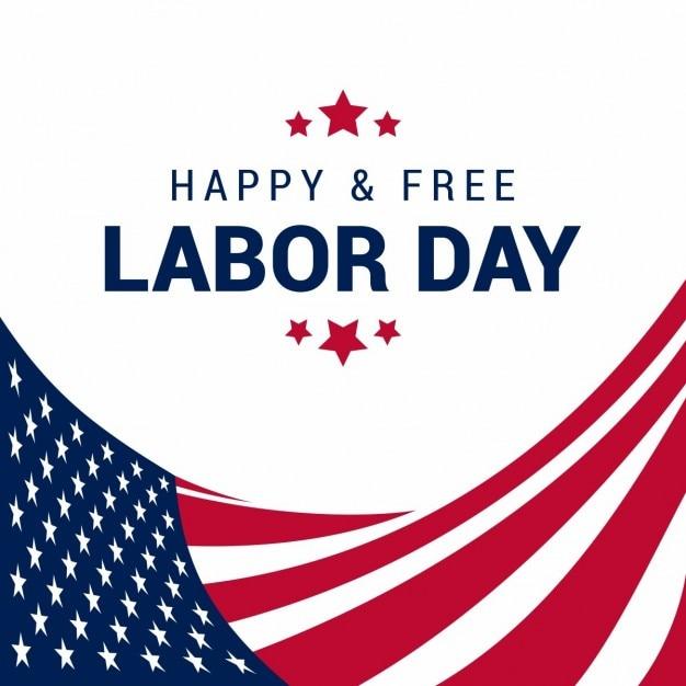 Glücklich free usa labor day Kostenlosen Vektoren