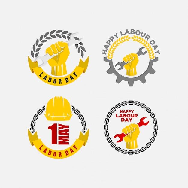 Glückliche arbeitstagvektorillustration Premium Vektoren