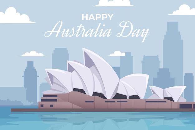 Glückliche australien-tagesillustration Kostenlosen Vektoren