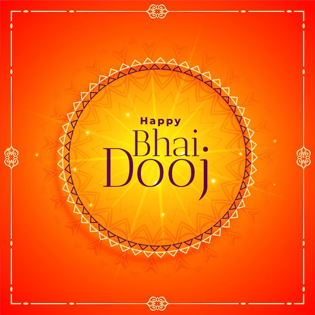 Glückliche bhai dooj festival-feierillustration Kostenlosen Vektoren