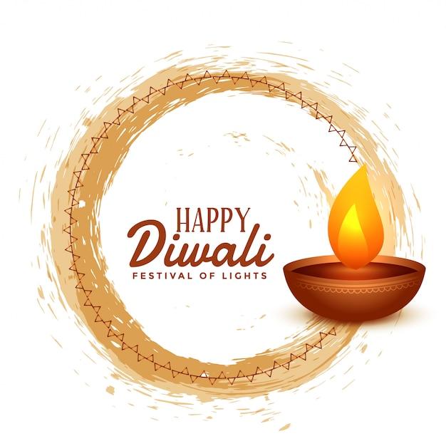 Glückliche diwali hinduistische festivalkartenillustration Kostenlosen Vektoren