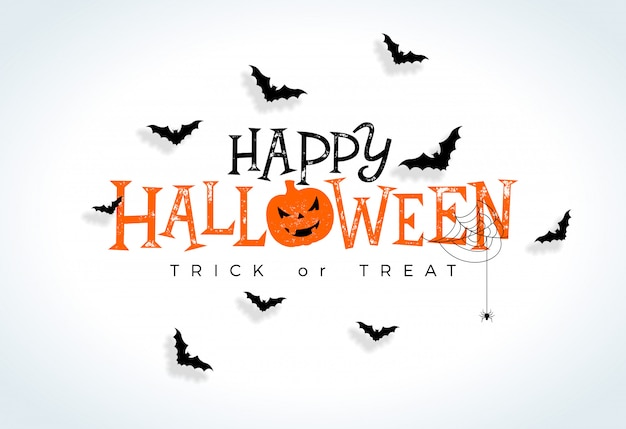 Glückliche halloween-illustration Premium Vektoren