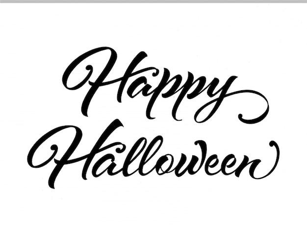 Glückliche halloween kalligraphie | Kostenlose Vektor