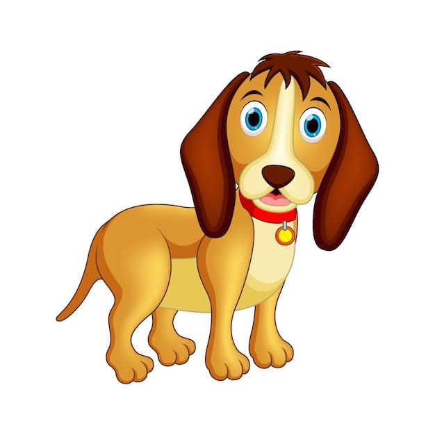 Glückliche hundeillustration Premium Vektoren