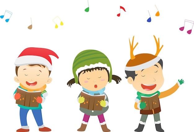 Weihnachtslieder Zum Singen.Glückliche Kinder Die Weihnachtslieder Singen Download Der