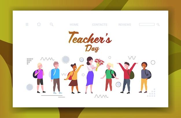 Glückliche lehrertag-weltfeiertagsfeier Premium Vektoren