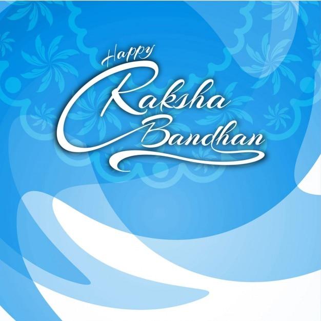 Glückliche raksha bandhan textentwurf bakground Kostenlosen Vektoren