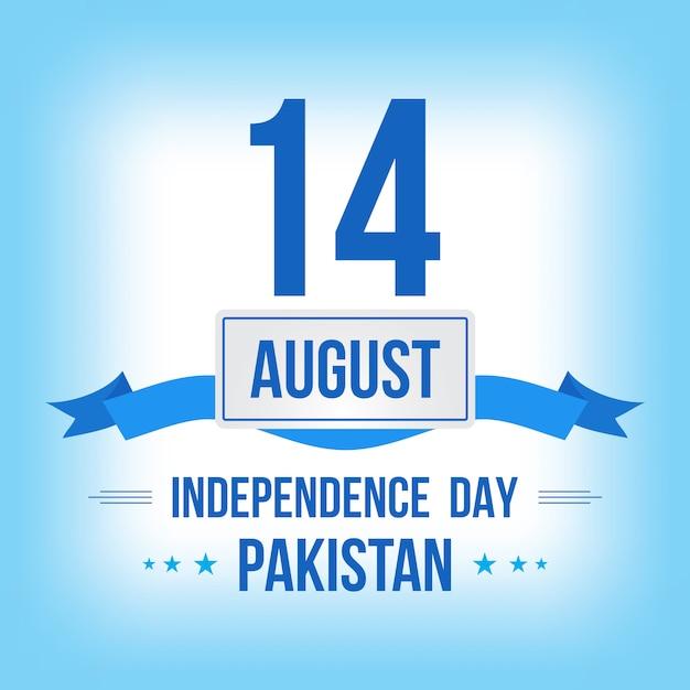 Glückliche unabhängigkeitstag-14. august-pakistan-gruß-karte Premium Vektoren