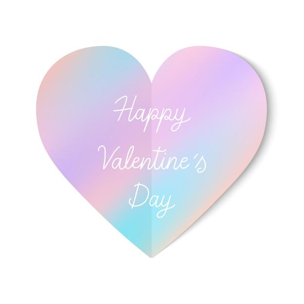 Glückliche valentinstaghandbeschriftung mit pastellherzikone Premium Vektoren