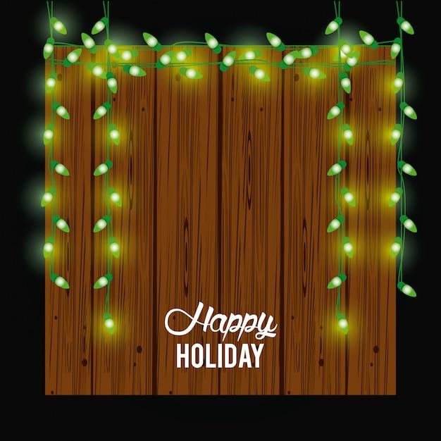 Glückliche weihnachtskarte und dekoration Premium Vektoren