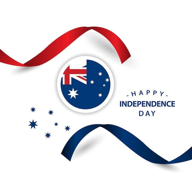 Glücklicher australien-unabhängiger tag Premium Vektoren