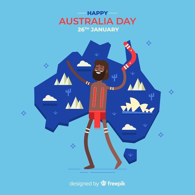 Glücklicher australischer tag Kostenlosen Vektoren