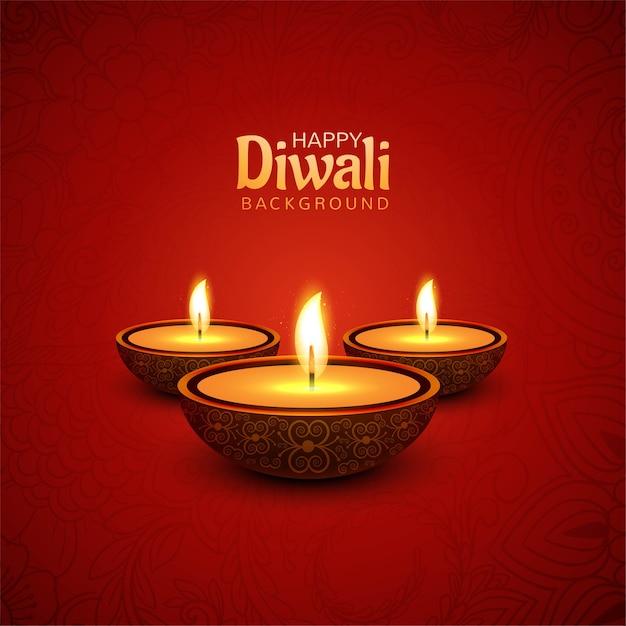 Glücklicher diwali festivalkartenhintergrund Kostenlosen Vektoren