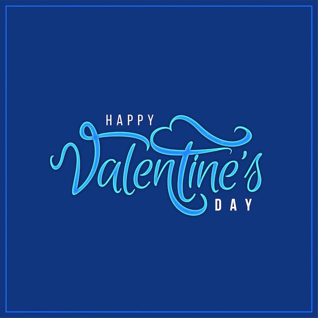 Glücklicher eleganter blauer hintergrund des valentinstags Kostenlosen Vektoren