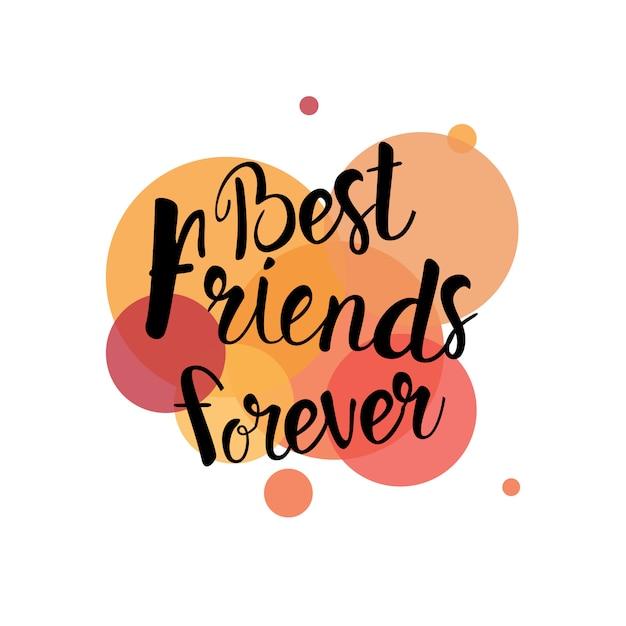 Glücklicher freundschafts-tag logo greeting card friends holiday banner Premium Vektoren