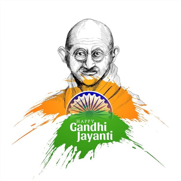Glücklicher gandhi jayanti konzepthintergrund Kostenlosen Vektoren