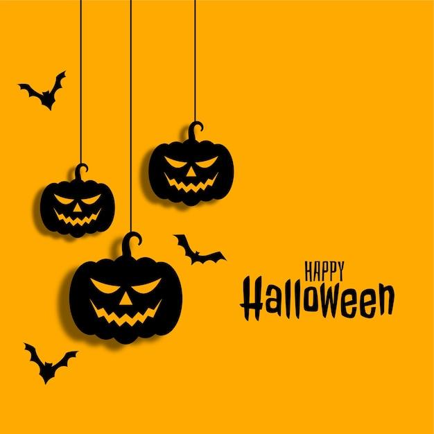 Glücklicher halloween-hintergrund Kostenlosen Vektoren
