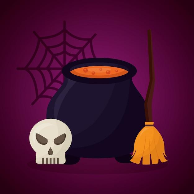 Glücklicher halloween-tag Kostenlosen Vektoren