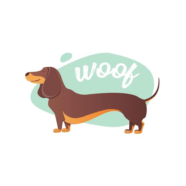 Glücklicher hund Premium Vektoren