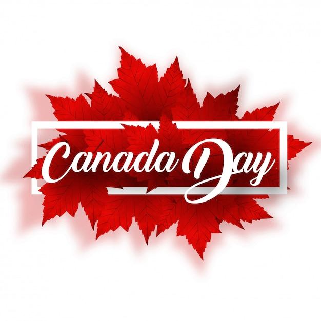 Glücklicher kanada-tag Premium Vektoren