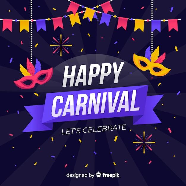 Glücklicher karneval Kostenlosen Vektoren