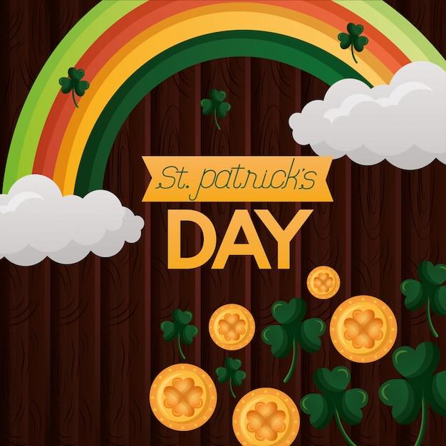 Glücklicher st. patricks day Kostenlosen Vektoren