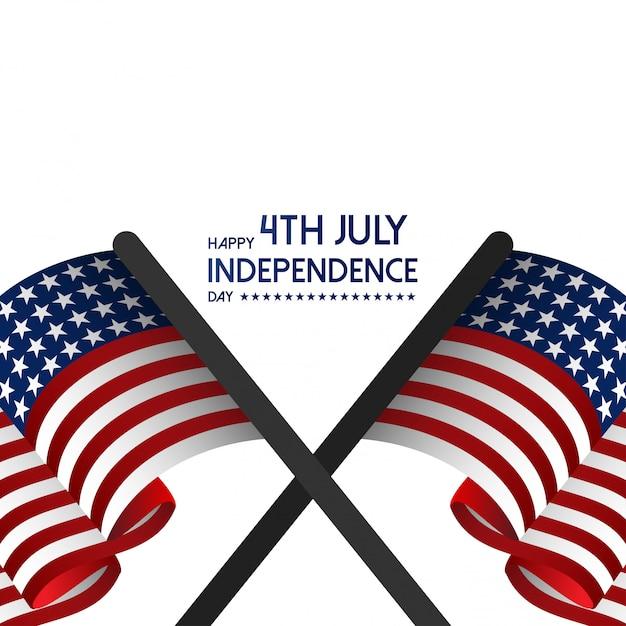 Glücklicher usa-unabhängigkeitstag am 4. juli. Kostenlosen Vektoren
