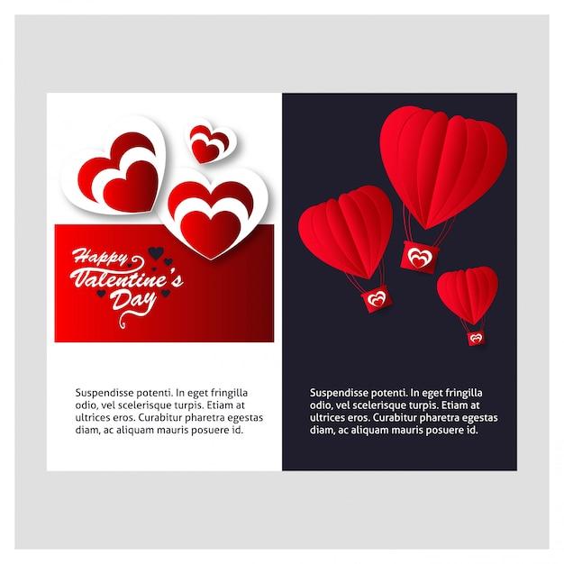 Glucklicher Valentinstag Liebes Hintergrund Kostenlose Vektor
