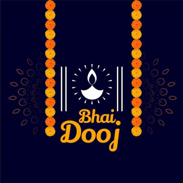 Glückliches bhai dooj wünscht die traditionelle illustration Kostenlosen Vektoren
