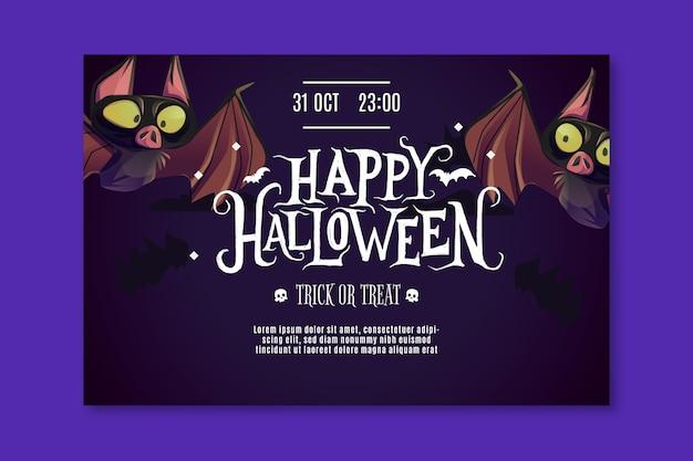 Glückliches halloween-banner Kostenlosen Vektoren