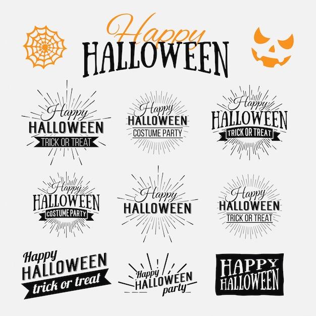 Glückliches halloween-plakat auf hellem aquarellhintergrund mit flecken und tropfen. illustration glücklicher halloween-fahne mit halloween-elementen. fledermäuse, spinnennetz Premium Vektoren