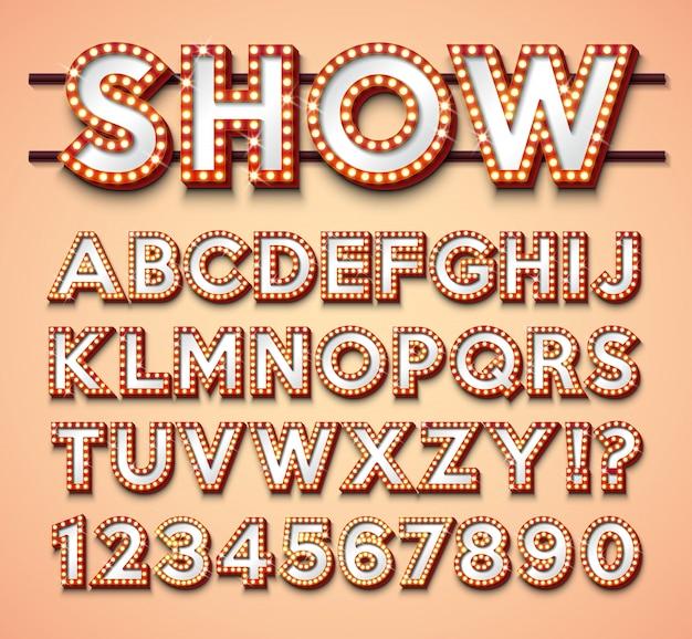 Glühbirne alphabet Premium Vektoren