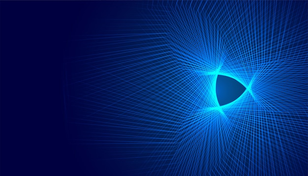Glühende abstrakte futuristische digitale hintergrundgestaltung mit linien Kostenlosen Vektoren