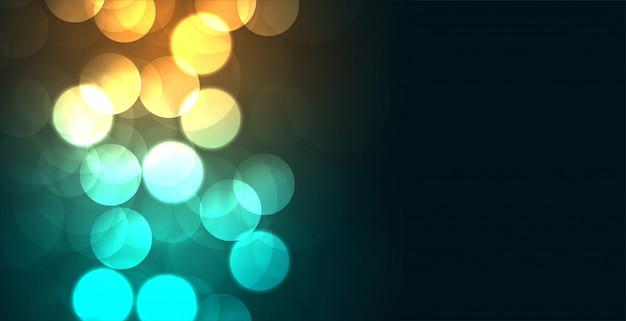 Glühende farben bokeh glänzender hintergrunddesigneffekt Kostenlosen Vektoren