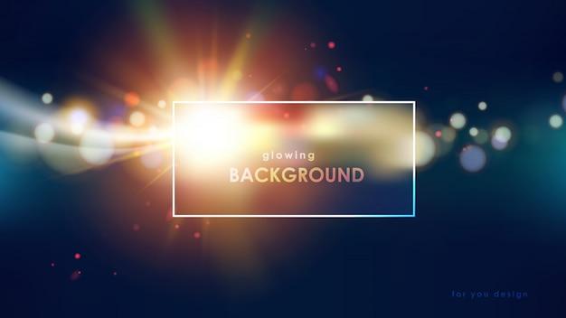 Glühende flackernde lichter auf wissenschaftshintergrund Premium Vektoren